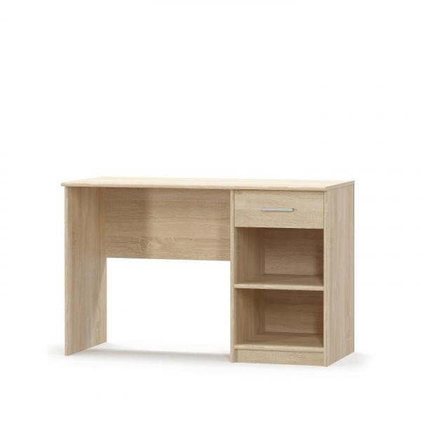Pachet Birou scolar cu sertar, 120 x 77 x 54 cm, stejar sonoma + Etajera office stejar sonoma, JOHAN NEW 04, 72,5x33,8x186 cm + scaun de birou ergonomic Tomi 1