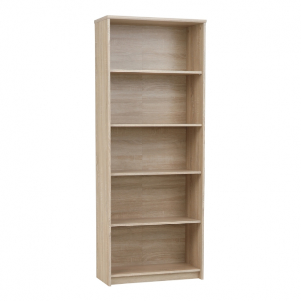 Pachet Birou scolar cu sertar, 120 x 77 x 54 cm, stejar sonoma + Etajera office stejar sonoma, JOHAN NEW 04, 72,5x33,8x186 cm + scaun de birou ergonomic Tomi 0